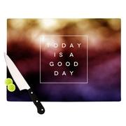 KESS InHouse Good Day by Galaxy Eyes Rainbow Cutting Board; 0.5'' H x 15.75'' W x 11.5'' D