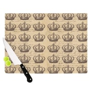 KESS InHouse Crowns by Suzanne Carter Cutting Board; 0.5'' H x 15.75'' W x 11.5'' D