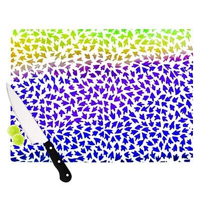 KESS InHouse Aqua Arrows by Sreetama Ray Cutting Board; 0.5'' H x 15.75'' W x 11.5'' D WYF078277500301
