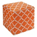 Fab Rugs World Tangier Ottoman; Carrot