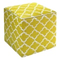 Fab Rugs World Tangier Ottoman; Celery