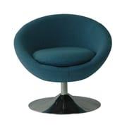 Fox Hill Trading Astro Disc Base Barrel Chair; Denim