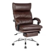 Viva Office High-Back Leather Executive Office Chair with Double Thick Padded Headrest and Armrest