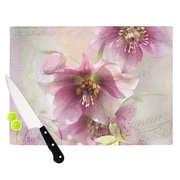 KESS InHouse Hellabore by Sylvia Cook Petals Cutting Board; 0.5'' H x 15.75'' W x 11.5'' D