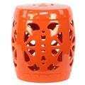 Urban Trends Ceramic Garden Stool; Orange