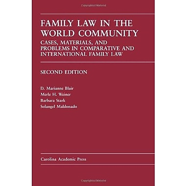 Family Law in the World Community, New Book (9781594605604)