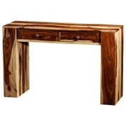 Artemano Karine Console Table; Light Brown