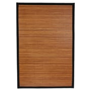 Oriental Furniture Burnt Bamboo Rayon Area Rug; 5' x 8'