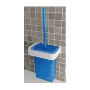Gedy by Nameeks Nastro Wall MountedToilet Brush and Holder; White/Transparent Light Blue