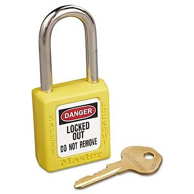 Master Lock Safety Lockout Padlock; Yellow WYF078275705592