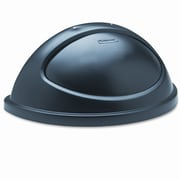 Rubbermaid Commercial Untouchable Plastic Half-Round Lid