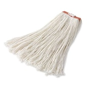 Rubbermaid Commercial Products Premium Rayon Mop Heads 1'' Orange Headband in White