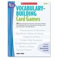 Scholastic Vocabulary Building Card Games, Grade Six