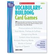 Scholastic Vocabulary Building Card Games, Grade Six Book