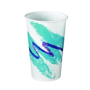 Solo Cups Jazz Waxed Paper Cold Cups Tide Design; 12 oz, 2000/Carton