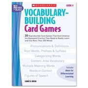 Scholastic Vocabulary Building Card Games, Grade Four Book
