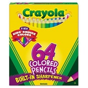 Crayola 3.3 Mm Hb Colored Woodcase Pencil in Assorted (64/Pack)