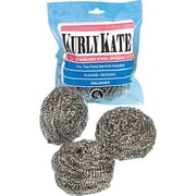 CONTINENTAL COMMERCIAL PRODUCTS Medium Kurly Kate Stainless Steel Scrubbers 12 per Pack