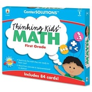 CARSON-DELLOSA PUBLISHING Center Solutions Thinking Kids Math Cards Grade 1 Level