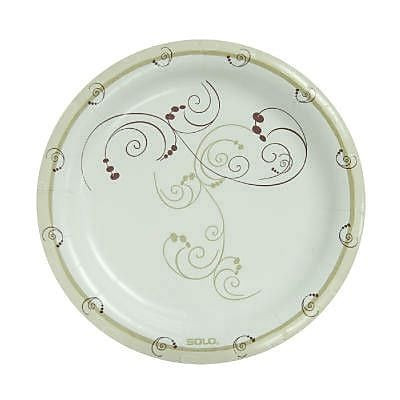 Solo Cups 8 1/2'' Clay-Coated Round Paper Plates Symphony Design WYF078277520611