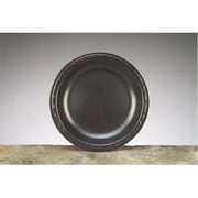 Genpak 8.88'' Elite Laminated Foam Round Plates in Black