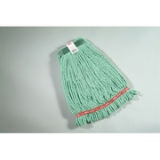 Rubbermaid Commercial Products Medium Web Foot Wet Mop Head in Green (Set of 6)
