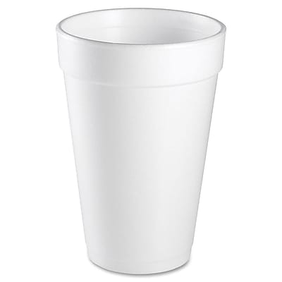 Dart Container Corp. 16 oz Foam Cups 25/Bag in White WYF078277508671