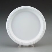 Chinet Round Plastic Plates in White