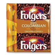 FOLGERS (42 per Carton) Coffee Premeasured Packs, Colombian, Ground, 1.75 oz Packet