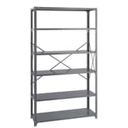 Safco Products Industrial 85'' H 6 Shelf Shelving Unit; 85'' H x 48'' W x 18'' D