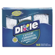 Dixie Combo Pack, Tray with White Plastic Utensils Set (Set of 1008)