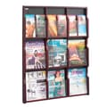 Safco Products Expose 9 Pocket Magazine/18 Pocket Pamphlet Display; Mahogany