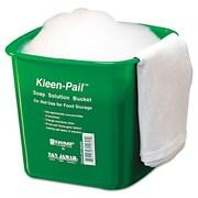 San Jamar Kleen-Pail 6-qt. Bucket (Set of 12); Green