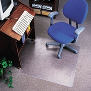 Deflecto EconoMat Nonstudded, No Bevel Chair Mat for Low Pile Carpet