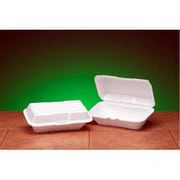 Genpak Foam Hoagie Hinged Large Container in White