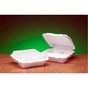 Genpak Snap-It Foam Hinged Container with 3 Compartment in White