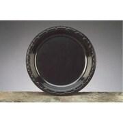 Genpak 10.25'' Silhouette Plastic Round Plates in Black