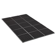 Crown Safewalk Anti-Fatigue Drainage Mat; Black