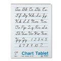 Pacon Creative Products Chart Tablet with Cursive Cover, 25 Sheets/Pad
