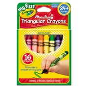 Crayola My First Washable Triangular Wax Crayons (16 Pack)