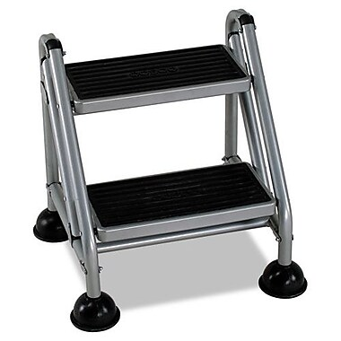 Cosco 2 Step Steel Rolling Commercial Step Stool With 300