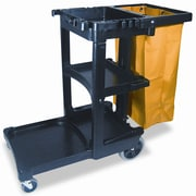 Rubbermaid 45'' Commercial Multi-Shelf Cleaning Cart
