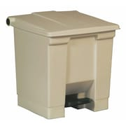 Rubbermaid Commercial Products 8-Gal Step On Waste Container; Beige