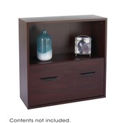Safco Products Apres Modular Storage Shelf w/Lower File Drawer 29.75'' Standard Bookcase; Mahogany