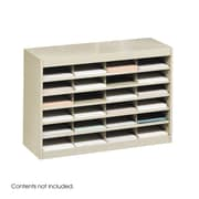 Safco Products Steel Literature Organizer with 24 Letter-Size Compartments; Tropic Sand