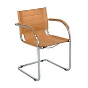 Safco Products Flaunt Leather Guest Chair; Camel Microfiber
