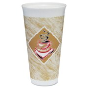 DART Caf  G Design 20 oz. Foam Hot/Cold Cups with Accents (Carton of 500)