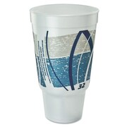 DART Impulse Flush Fill Printed 32 oz. Hot/Cold Foam Drinking Cup (Bag of 16)