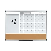 Mastervision 3-In-1 Planner 1'6'' x 2' Bulletin Board