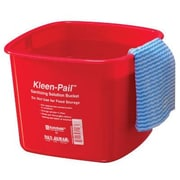 San Jamar 6 Quart Kleen-Pail in Red